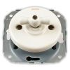 cross-circuit switch, without frame, rotary key porcelaine white