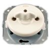 two-way switch, without frame, rotary key RETRO porcelain white
