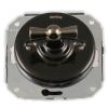 two-way switch, without frame, rotary key black nickel