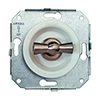 white / satin nickel-plated, two-way switch