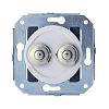 white / satin nickel-plated, 10A-250 V