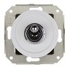 cross-circuit switch, white / brass chrome-plated