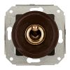 two-way switch, brown / varnished brass