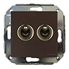 two-way switch, brown / antique bronze, without frame