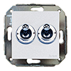 Two-way switch, metallic / chrome-plated, without frame