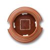 surface mounting, for installation for pipe system double, 95 x 22 mm, wood honey-coloured