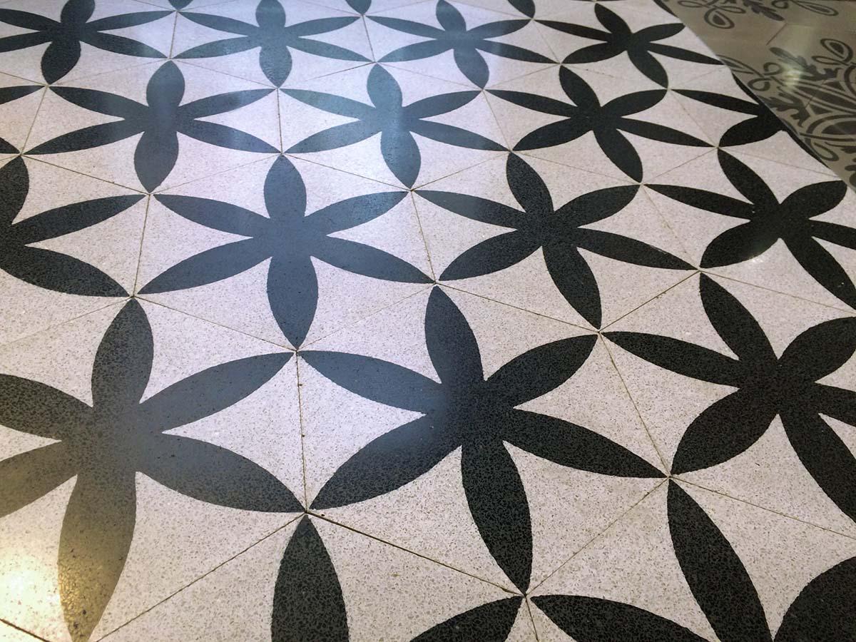 Terrazzo Tile Hexagonal Von Replicata Blooming Ornament